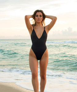 Gisele Midnight Black One Piece Swimsuit