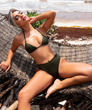 Load image into Gallery viewer, Noa Kai Julie Teeny Triangle Top in Forest Green