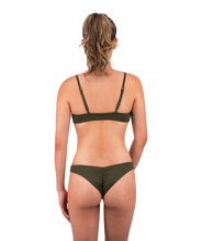 Load image into Gallery viewer, Leilani Cheeky Bikini Bottom in Forest Green