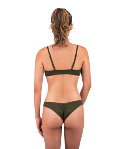 Leilani Cheeky Bikini Bottom in Forest Green