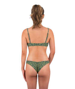 Leilani Cheeky Bikini Bottom in Jungle Print