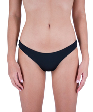 Load image into Gallery viewer, Classic Leilani Low Waist Scrunch Bikini Bottom in Midnight Black