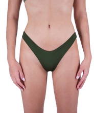 Load image into Gallery viewer, Mira High Cut Bikini Bottom in Forest Green