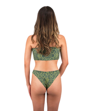 Load image into Gallery viewer, Mira Reversible Bandeau Bikini Top in Jungle Print