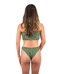 Mira High Cut Bikini Bottom in Jungle Print
