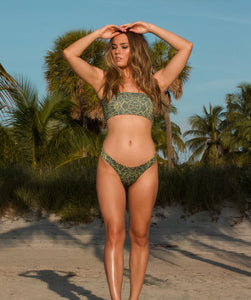 Mira Classic High Cut Bikini Bottom in Jungle Print