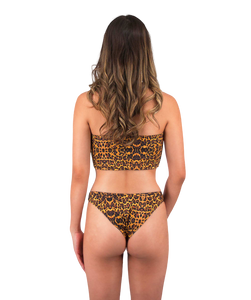 Mira High Cut Bikini Bottom in Leopard Print