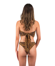 Load image into Gallery viewer, Mira Reversible Bandeau Bikini Top in Leopard Print