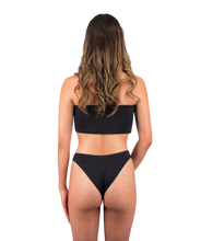 Load image into Gallery viewer, Mira High Cut Bikini Bottom in Midnight Black
