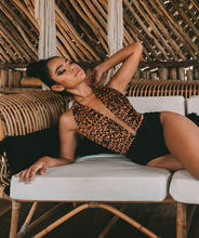 Load image into Gallery viewer, Noa Kai Swimwear Moani One Piece in Leopard and Black
