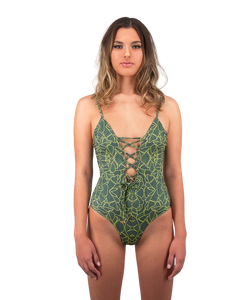 Savannah One Piece Swimsuit in Jungle Print