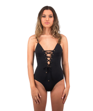Load image into Gallery viewer, Savannah One Piece Swimsuit in Midnight Black