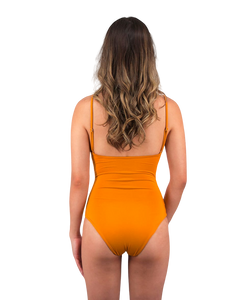 Savannah One Piece Swimsuit in Sunset Yellow