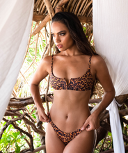Load image into Gallery viewer, Noa Kai Sofia Bralette Top in Leopard