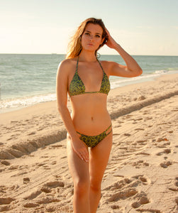 Valeria Classic Low Waist Two Strap Bikini Bottom in Jungle Print