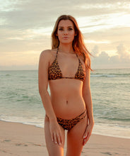 Load image into Gallery viewer, Valeria Classic Triangle Bikini Top in Leopard Print