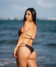 Load image into Gallery viewer, Valeria Strappy Bottom in Midnight Black