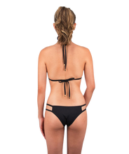 Load image into Gallery viewer, Valeria Classic Triangle Bikini Top in Midnight Black