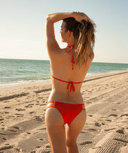 Load image into Gallery viewer, Valeria Classic Triangle Bikini Top in Reef Orange
