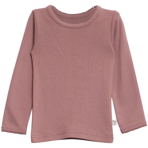 Basic Girl T-Shirt LS Dusty Rouge
