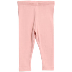 Baby Girls Rib Leggings Rose Tan