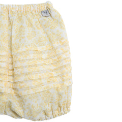 Nappy Pants Pleats Lemon Flowers