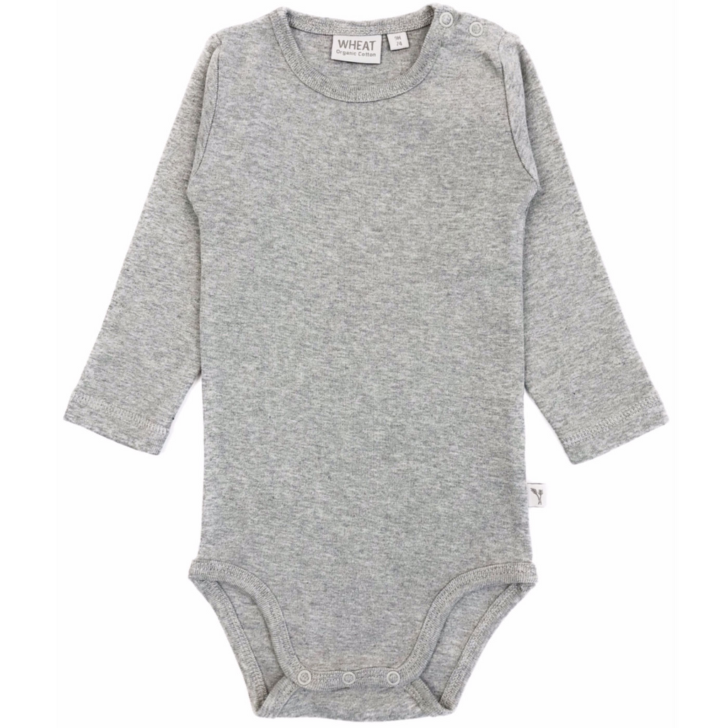 Body Plain LS Melange Grey A