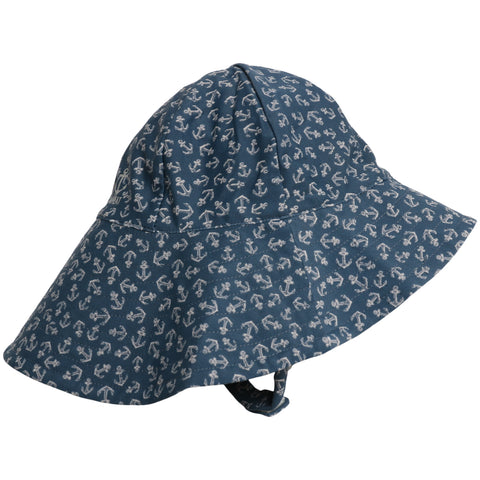 UV Sun Hat Indigo Anchors