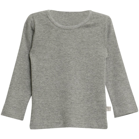 Basic Baby Boy T-Shirt LS Melange Grey