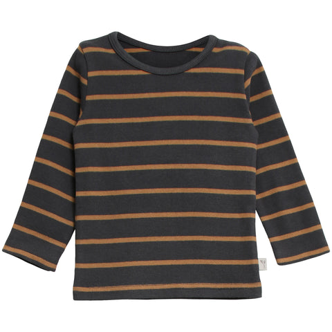 T-Shirt Striped LS Caramel