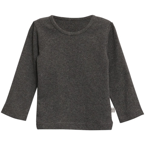 Basic Baby Boy T-Shirt LS Charcoal