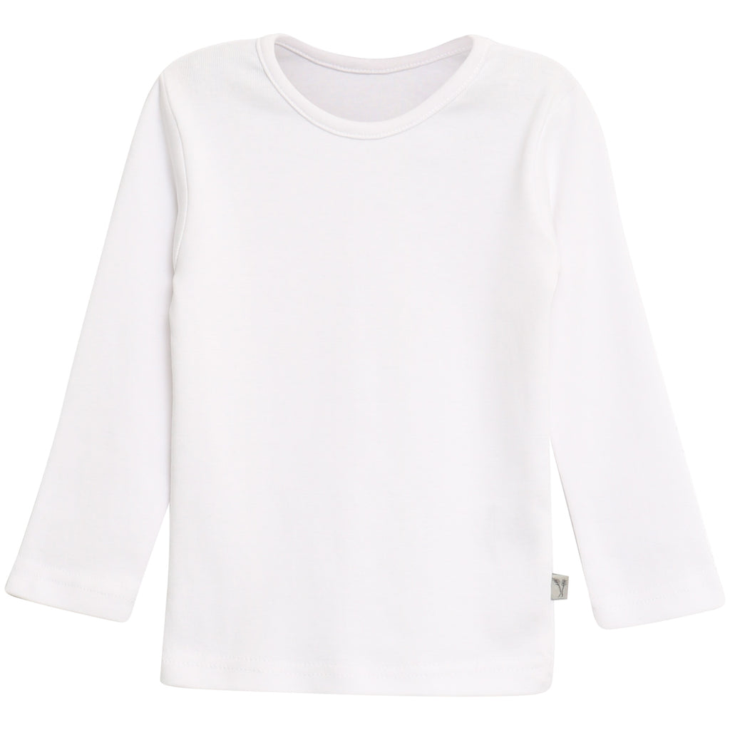 Basic Baby Boy T-Shirt LS White