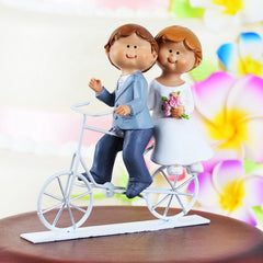 Cycling Couple Wedding Cake Topper