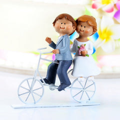 Cycling Couple Wedding Cake Topper 3