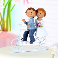 Cycling Couple Wedding Cake Topper 4