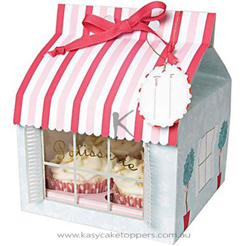 Little House Paper Cupcake Box  12pcs