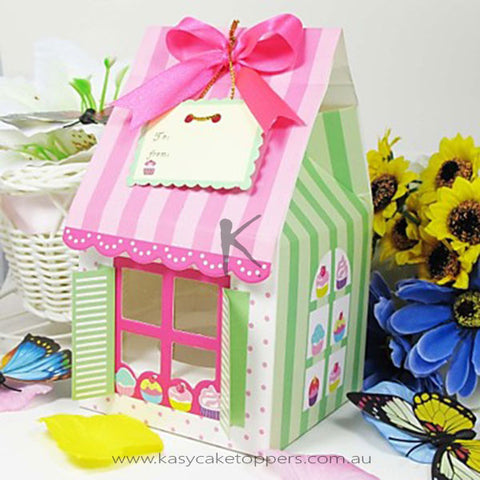 House Shaped Single Cupcake Box 12pcs