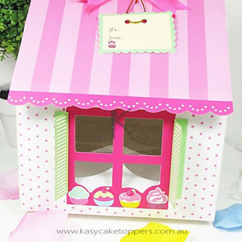 House Shaped Cupcake Box 12pcs