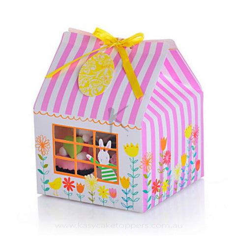 Flower House PVC window 4 cupcake boxes 12pcs