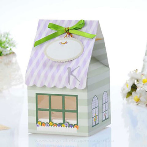 Lovely House Shaped Single Cake Box 12pcs