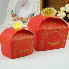 Wedding Candy Boxes Red 100pcs