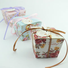 Flower Wedding Candy Box 100pcs