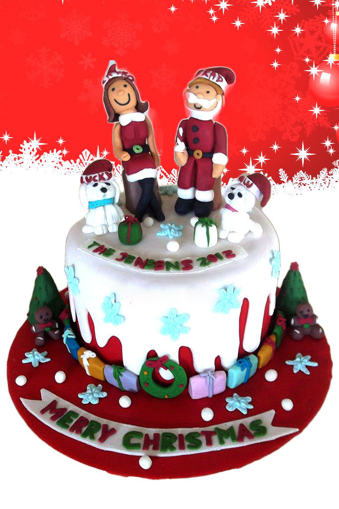 Mr & Mrs Claus Cake Toppers