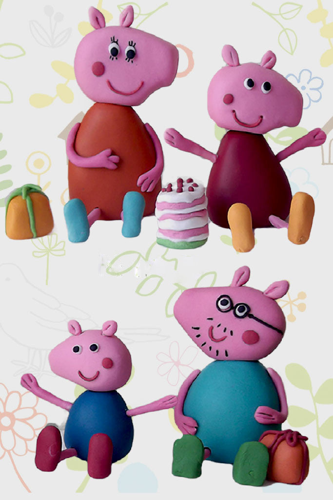 Peppa Pig Cake Toppers