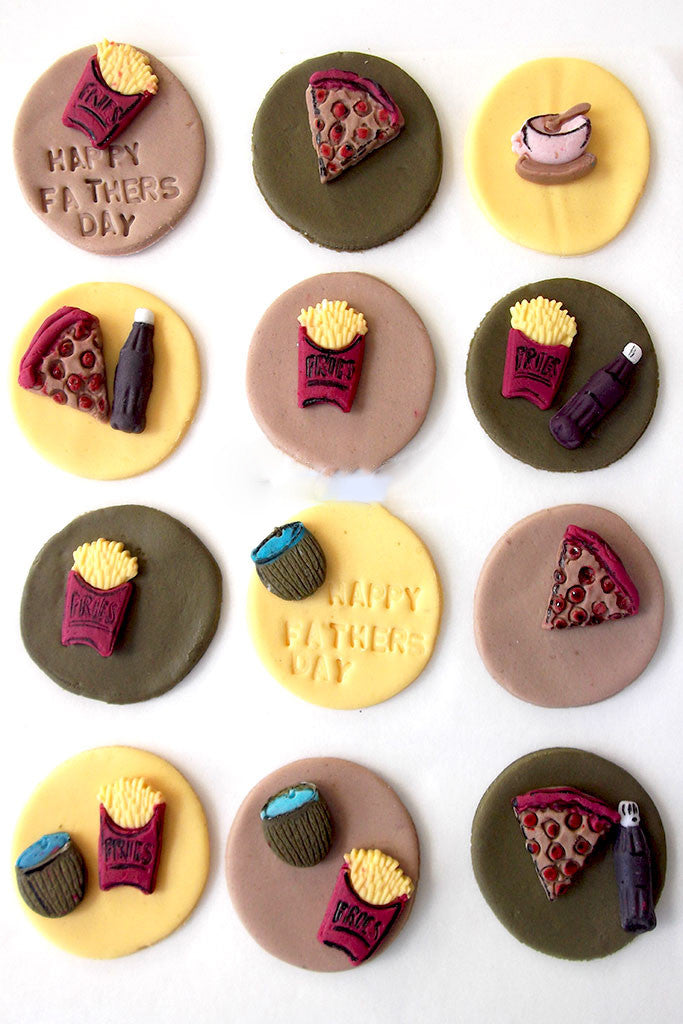 Pizza Themed Cupcake Toppers