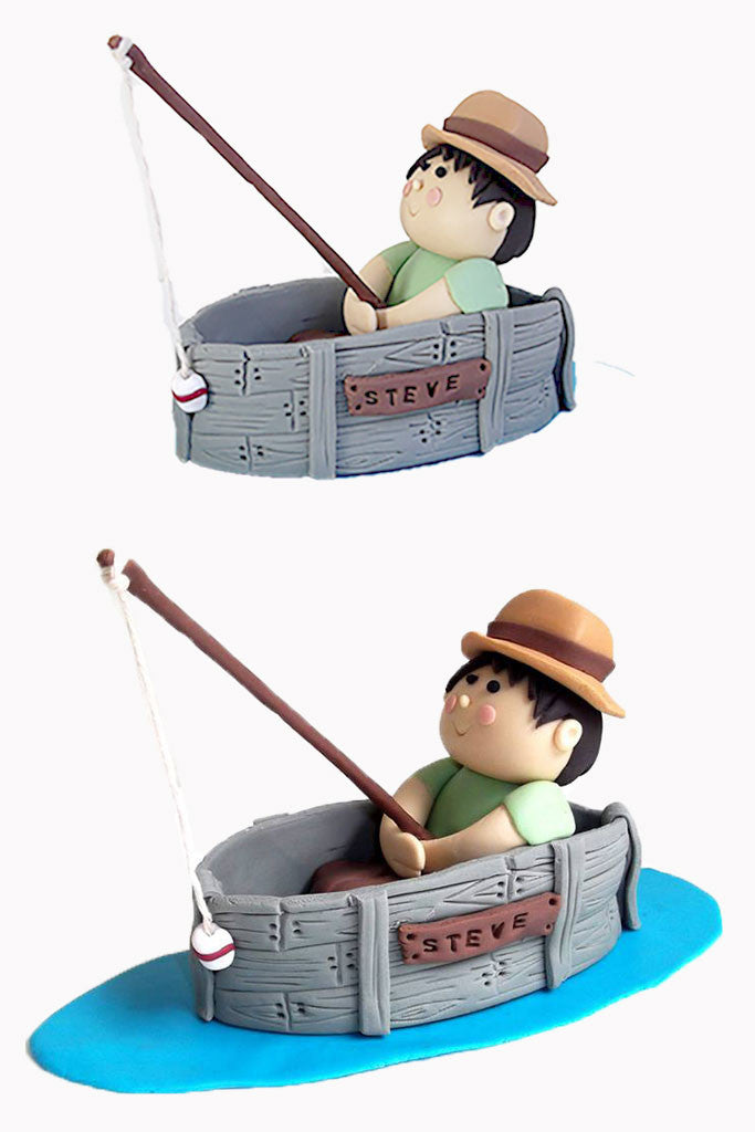 fishing cake toppers fishing cake topper kasy cake toppers 4084