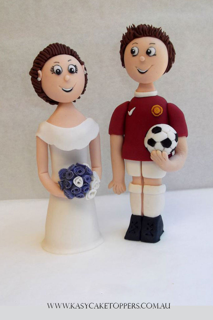 Football Themed Wedding Cake Toppers Kasy Cake Toppers