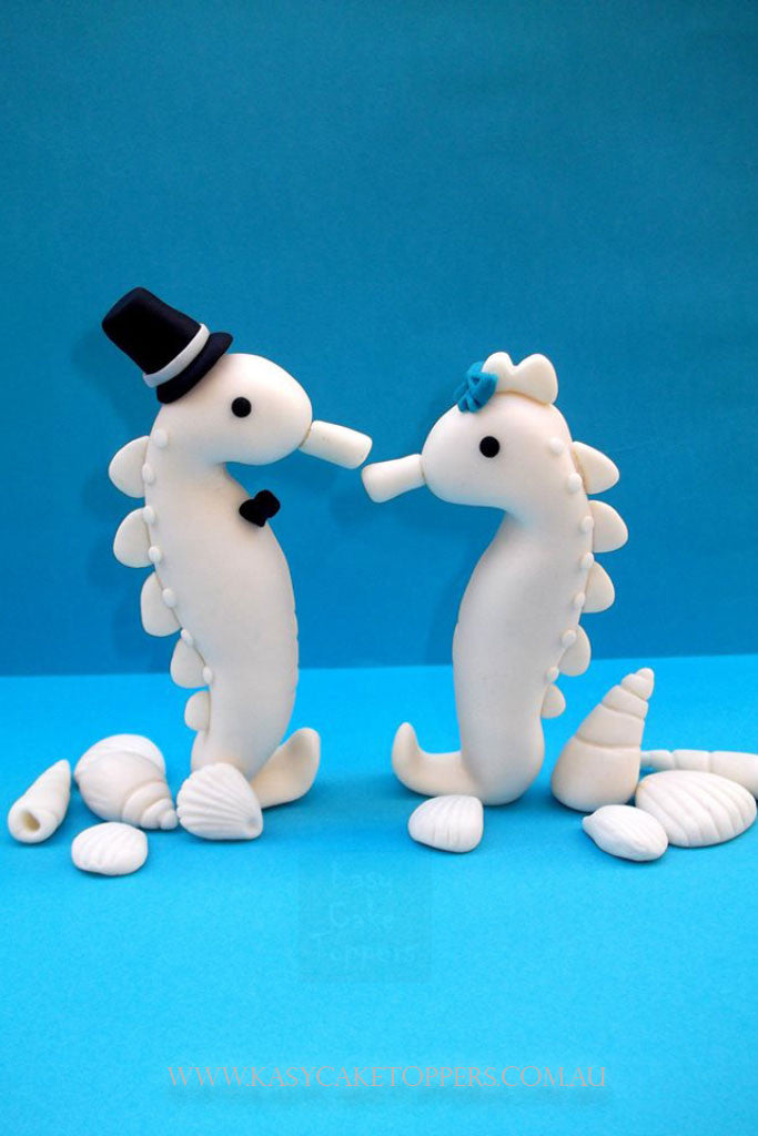 Sea Horse Wedding Cake Toppers