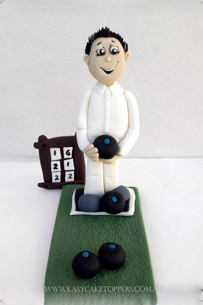 Lawn Bowls Man Cake Topper - Kasy Cake Toppers