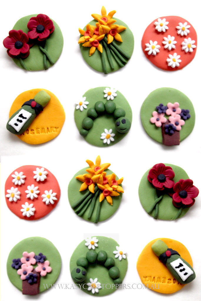 Transposrt Theme Cupcake Toppers